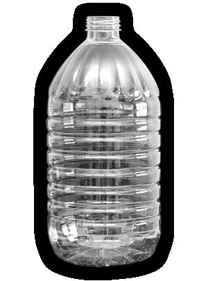 5 literes víztiszta PET flakon